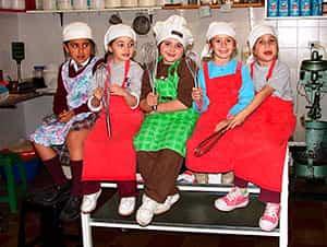Clases de cocina en los colegios