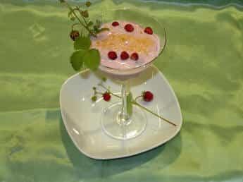 Crema de yogur con frutos silvestres