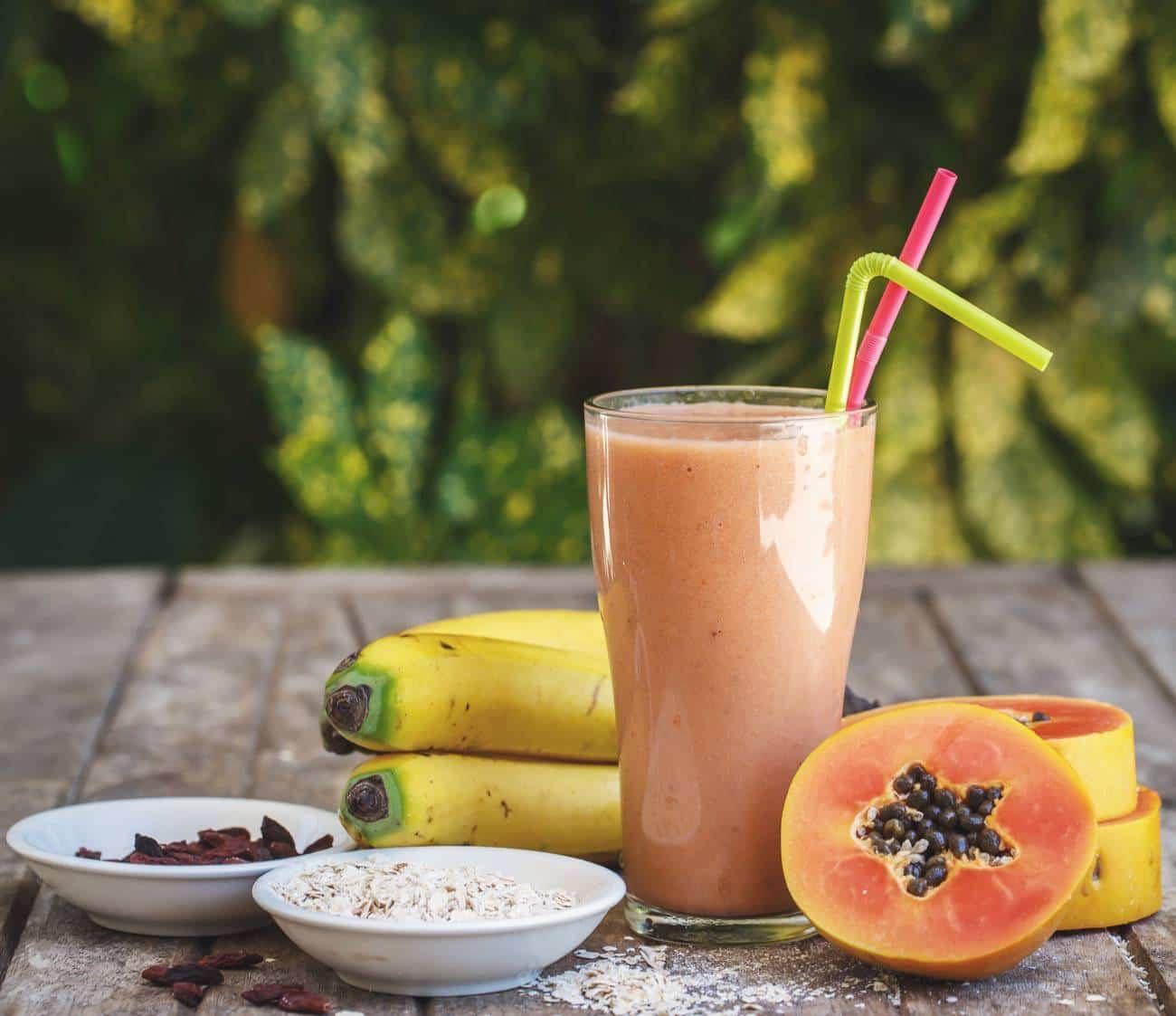 papaya en el embarazo - Papaya smoothie