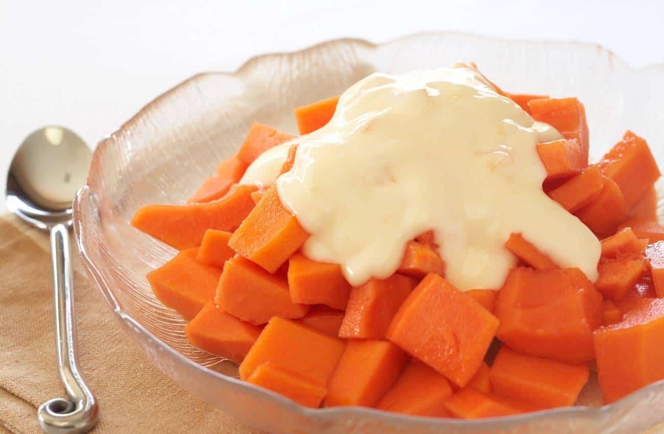 papaya en el embarazo - ensalada de papaya con yogurt