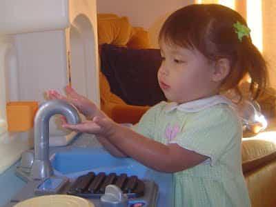 lavarlas manos