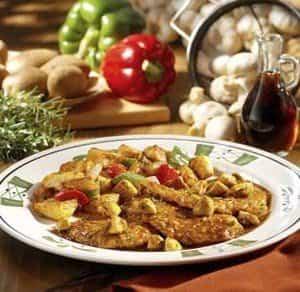 Pechugas con salsa de albahaca