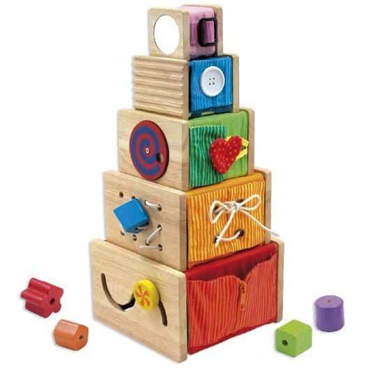 caja juegos madera