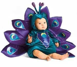 bebe pavo real