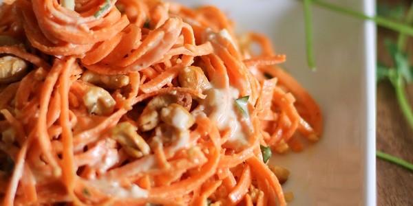 Recetas Infantiles: Fideos con crema de zanahoria