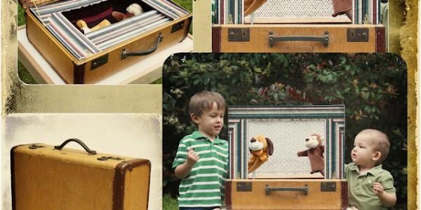 Juguetes: Convierte una maleta en un pequeño teatro
