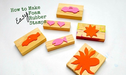 DIY: Cómo hacer sellos grandes con goma Eva para niños