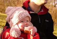 como pasear al bebe durante el invierno