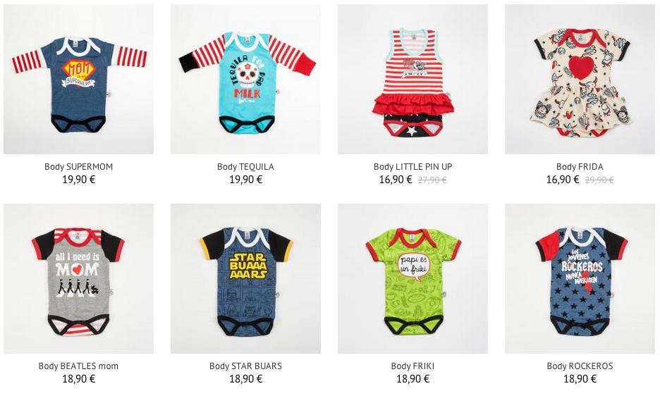 ropa original para bebés - bodys rockyhorrorbaby