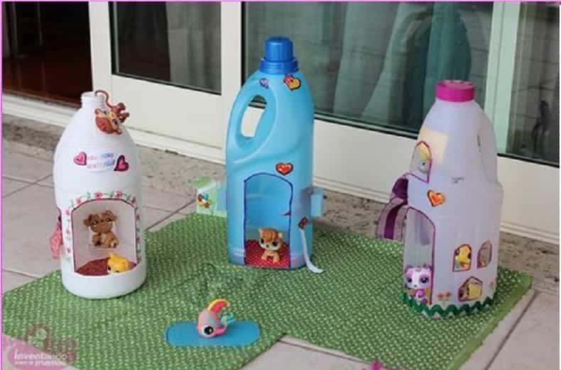 juguetes infantiles de materiales reciclados