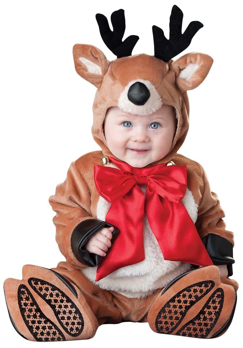 Divertidos disfraces navideños para bebés